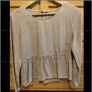 Tops - Mauve peplum shirt